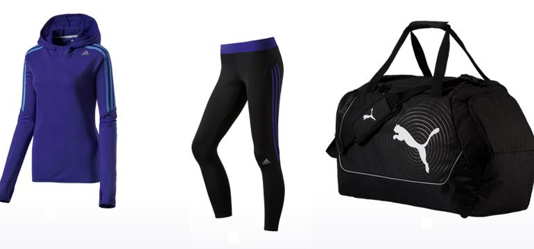 Fitness sale bei intersport adidas und puma reduziert